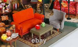 DIY Miniature Dollhouse Kit New York Central Perk Friends Set Free Shipping