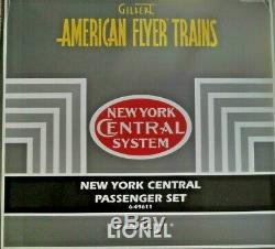 Gilbert American Flyer New York Central Passenger Set 6-49611 Lionel, NIB