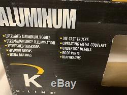 K-line Aluminum New York Central Baggage Tavern Lounge 21 Passenger Car! Nyc