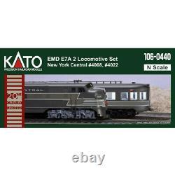 Kato 106-0440 E7 A/A Locomotive Set (2) New York Central #4008 / 4022 N Scale