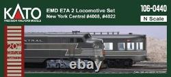 Kato 106-0440 N EMD E7A New York Central 2 Locomotive Set NYC