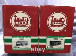 LGB New York Central 21570 F-7 A and 21582 F-7 B Locomotive Set with Sound