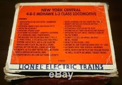 LIONEL 6-18009 NEW YORK CENTRAL MOHAWK 4-8-2 L-3a STEAM LOCO & TENDER IN OB