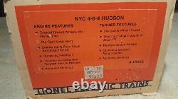 Lionel O Gauge # 6-18002 New York Central 4-6-4 Hudson C8 Cond Unrun 1983 USA