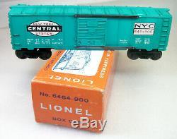 Lionel Postwar Rare 6464-900 Type 3 New York Central Box Car Exc Tired Orig Box