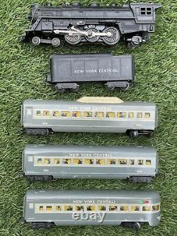 Marx O Scale #35150 New York Central Meteor Passenger Set 333 234 Lighted Coach