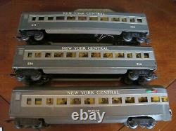 Marx O Scale New York Central Meteor Passenger coach Set 333 234 234