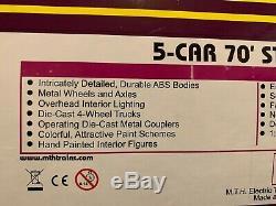 Mth 20-65156 New York Central 5-car 70' Streamlined Passenger Set (ribbed) Nib