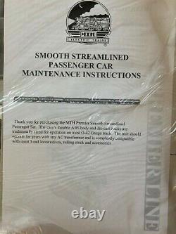 New MTH 20-6554 New York Central 5-car Smooth Side Sleeper/Diner Passenger Set