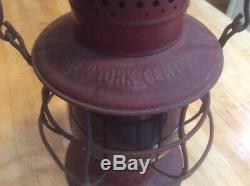 New York Central Dietz No. 6 Antique Railroad Lantern Red Globe