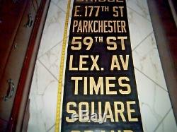 Ny Nyc Subway Roll Sign Brooklyn Bridge 42 St Times Square Grand Central Lex Ave