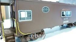 O Scale brass 2 Rail New York Central bay window caboose. No box