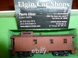 Overland Models Brass HO New York Central NYC 1900 Wood Caboose Custom Painted