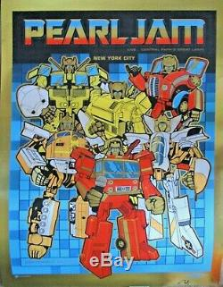 PEARL JAM POSTER Central Park New York City 2015 GOLD HEAVY METAL ED Ames Design