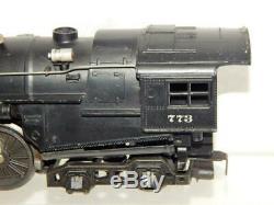 Postwar Lionel 773 diecast HUDSON Steam Locomotive 2426W tender NYC J-3 1950 O