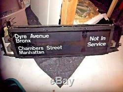 Rare Nyc Subway Sign Box Brooklyn Bridge Grand Central Penn Station Ny Roll Sign