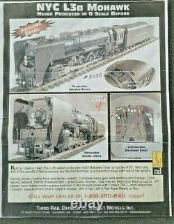 SUNSET 3rd Rail Brass NYC L3b MOHAWK 4-8-2 + WRAPPED + MASTER CARTON+PAPERWORK