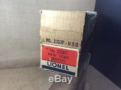 Set of twoLionel O Scale New York Central #2333-20 Powered & Dummy In O/Boxes