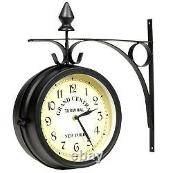 Two Sided Wall Clock American Station Clocks GRAND CENTRAL TERMINAL NEW YORK