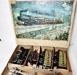 Vintage, Antique Bing -New York Central Steam Electric Passenger Train Set w Box