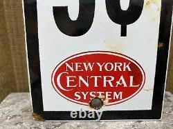 Vintage New York Central System Railroad Porcelain Metal Sign Pay Toilet Gas