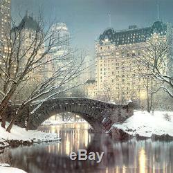 30wx30h Twilight En Central Park Rod New York Manhattan Chase Toile