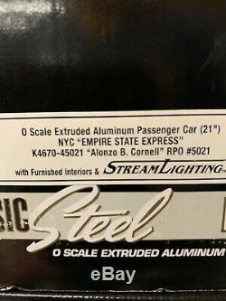 K-line, # 4670b Quatre Pack. 21 De New York Empire State Central Cars Express