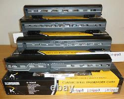 K-line K-4670e New York Central 20th Aluminum Passenger 21 4 Car Set O Scale Ny