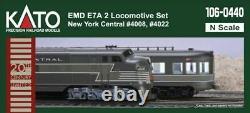 Kato 1060440 N Scale Emd E7a/a New York Central 2 A/a Ensemble De Locomotives 106-0440