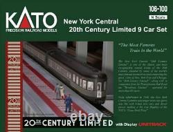 Kato 106100 N New York Central 20th Century Limited 9 Ensemble De Voitures 106-100 Unitrack