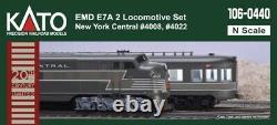Kato 106-0440 N Emd E7a New York Central 2 Ensemble De Locomotives Nyc