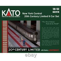 Kato 106-100 20th Century Limited Passenger Car Set New York Central (9) Échelle N