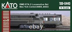 Kato N Scale 106-0440 Emd E7a 2 Locomotive Set New York Central 20th Century Ltd
