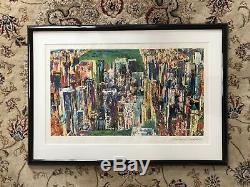 Leroy Neiman Large Couleur Sérigraphie Originale Signée Central Park New York Oeuvre D'art
