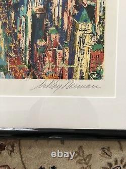 Leroy Neiman Large Couleur Signée À La Main Central Serigraph Park New York