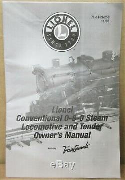 Lionel 6-11110 Nyc / New York Central 0-8-0 Vapeur Moteur Withtrainsounds O-gauge