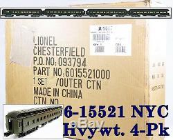 Lionel 6-15521 New York Central Nyc Hvywt. 20 Cent. Ltd 4 Pk 2004 C10 Sealed