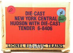 Lionel 6-8406 New York Central Nyc 4-6-4 Hudson # 783 Vapeur Semi-échelle 1984 C9