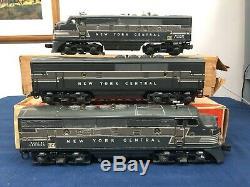 Lionel Postwar 2344 New York Central F3 Aba Set Diesel Avec Les Boîtes