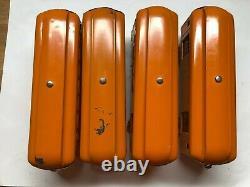 Lionel Prewar Standard Lot De 4 Rares Orange New York Central Lines Passager