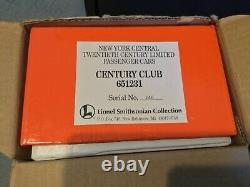 Lionel Smithsonian New York Central 29 Cents. Voiture De Voyageurs