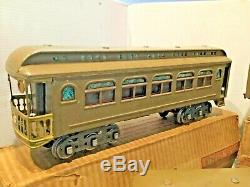 Lionel Standard Gauge Ny Central 490.418.419 Passagers Voiture Avec Ob