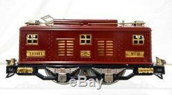 Lionel Standard Jauge D'avant-guerre # 8 Moteur Électrique Nyc Maroon / Brass 1925-1926 Repnt