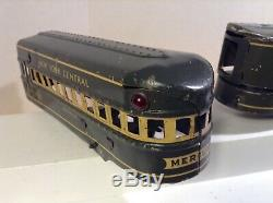 Marx Electric Vintage Mercury 7 Pc New York Central Grey Passagers Articulé