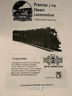 Mth 20-3059-1 New York Central (5274) 4-6-4 J-1e Pt Hudson Steam Engine Ln/box
