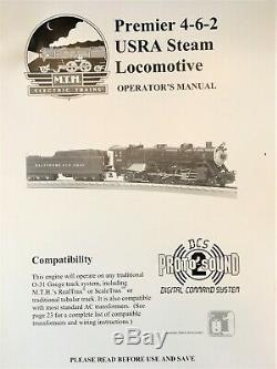 Mth 20-3103-1 Premier B & O 4-6-2 Usra Lourd Pacific Steam Engine Proto-sound 2.0