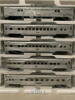 Mth 20-65156 New York Central 5 Voitures 70' Rationalisée Passagers Set (striée) Nib