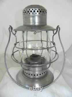 New York Central Railroad Lanterne Cast Effacer Eb Lantern Globe