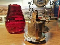 New York Central Railroad Lanterne Dietz No-6 N. Y. U. S. A. Deep Red Globe 1890
