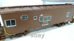 O Échelle Laiton 2 Rail New York Central Bay Window Caboose. Pas De Boîte